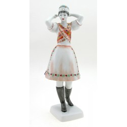 Hungarian Porcelain Khazar Woman Figurine By Hollohaza