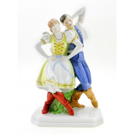 Herend Dancing Peasant Couple Figurine