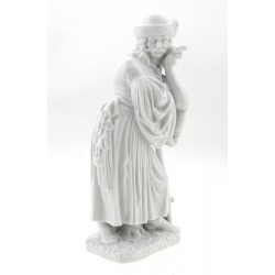 Herend Shepherd Figurine - White