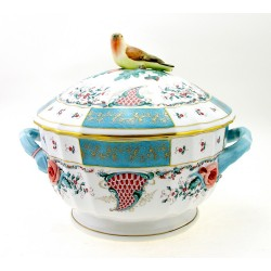 Large Herend Cornucopia Soup Tureen with Bird Handle