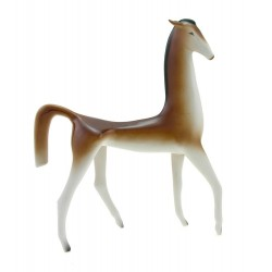 Large Hollohaza Art Deco Horse Figurine Hungarian Porcelain