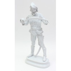 Large Herend Hussar Figurine White