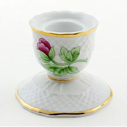 Hungarian Porcelain Hollohaza Candle Holder