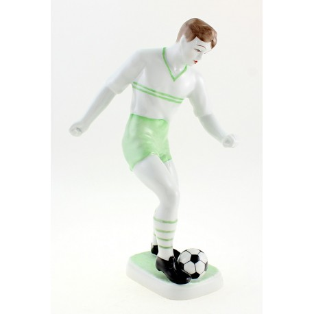 Hungarian Porcelain Hollohaza Football Player Figurine