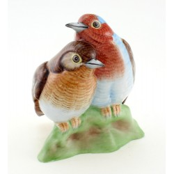 Hungarian Porcelain Hollohaza Love Birds Figurine