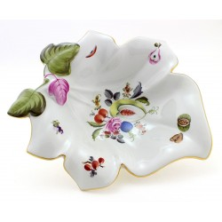 Vintage Herend Bouquet De Fruits Leaf Dish