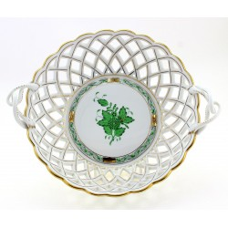 Herend Green Chinese Bouquet Basket
