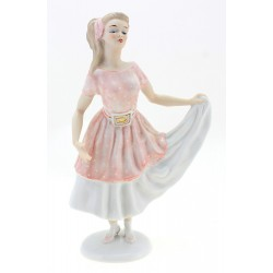 German Porcelain Wallendorf Girl in Dress Retro