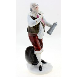 Rare Wallendorf Man Figurine with Runlet