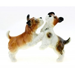 Vintage Karl ENS Pair of Dog Figurine German Porcelain