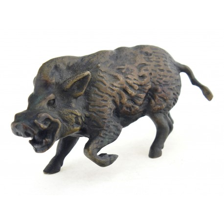 Solid Bronze Wild Boar Figurine Signed Collectiblesforyou Klugex