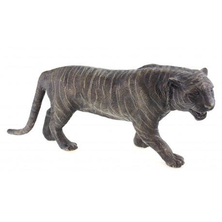 Bronze Tiger Figurine 17 Inch Long