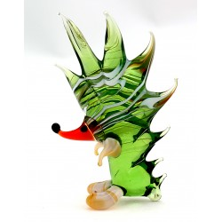 Murano Style Glass Hedgehog Figurine Art Glass
