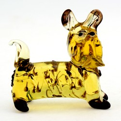 Murano Style Glass Fox Terrier Figurine Art Glass