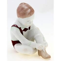 Vintage Hungarian Boy Figurine By Aquincum