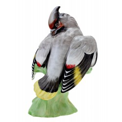Hungarian Porcelain Bird Figurine By Hollohaza
