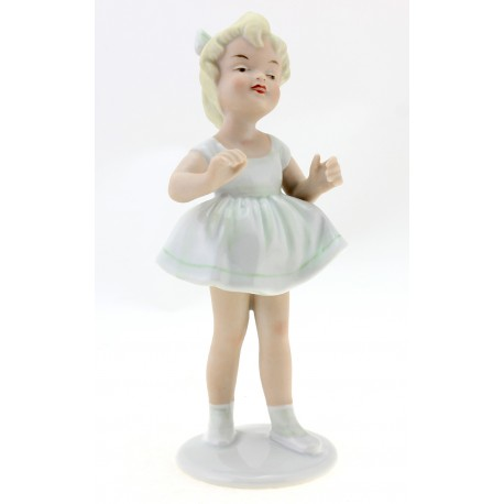Wallendorf Little Girl Figurine German Porcelain
