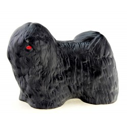 Hollohaza Puli Dog Figurine – Black