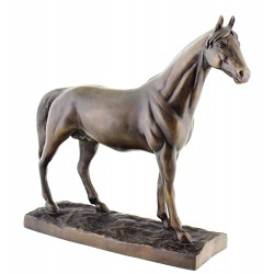 Solid Bronze Horse Sculpture 16 Inch Long