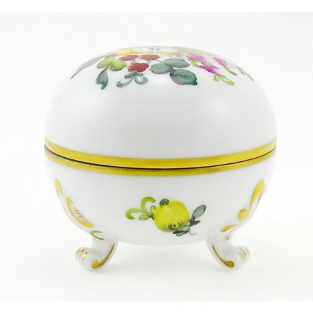 Herend Bouquet De Fruits Footed Covered Dish