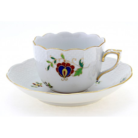 Herend Mocha Coffee Cup & Saucer
