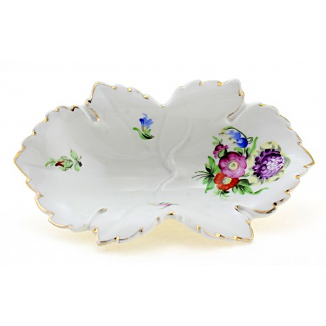 Antique Herend Leaf Dish 1940s