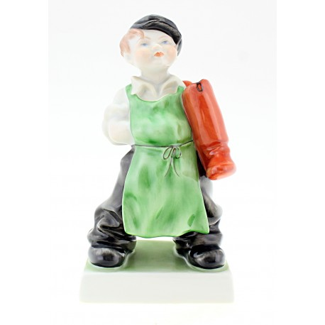 Hungarian Porcelain Herend Boy Figurine with Boots