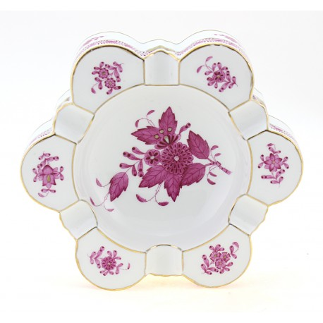Vintage Herend Raspberry Chinese Bouquet Decor Dish