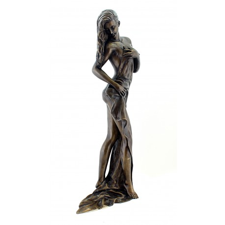 Beautiful Solid Bronze Woman Sculpture 26 Inch Tall