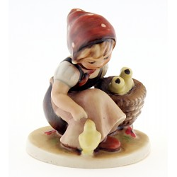 Antique Hummel Chick Girl Figurine TMK1
