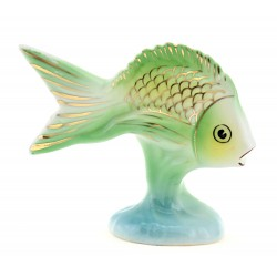 Vintage Hollohaza Porcelain Fish Figurine
