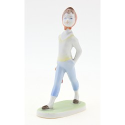 Vintage Hungarian Porcelain Aquincum Walking Girl Figurine