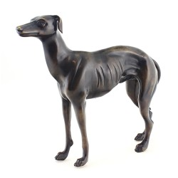 Solid Bronze Greyhound Dog Figurine