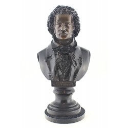Large Solid Bronze Beethoven Bust