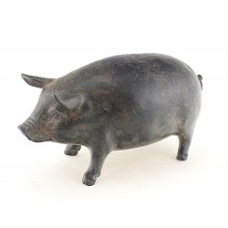 Solid Bronze Pig Figurine Heavy