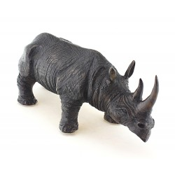 Solid Bronze Rhinoceros Figurine Heavy