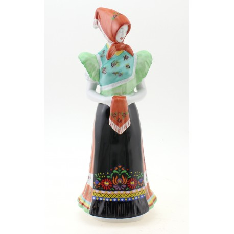 Hollohaza Woman Figurine in Folk Dress