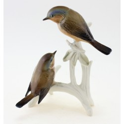 Vintage Karl ENS Pair of Robin Bird Figurine