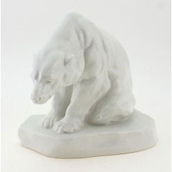 Vintage Herend Polar Bear Figurine 1950`s
