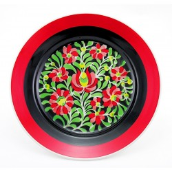 Hand-painted Vintage Hungarian Porcelain Wall Plate by Hollohaza