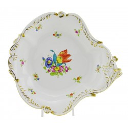 Hungarian Porcelain Herend Tulipe Bouquet Decor Dish