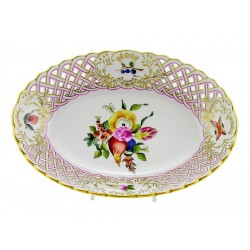 Hungarian Porcelain Herend Bouquet De Fruits Decor Dish