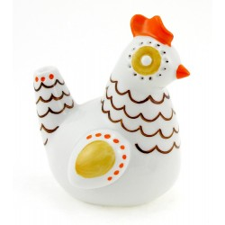 Vintage Hungarian Hollohaza Porcelain Deco Chicken Figurine