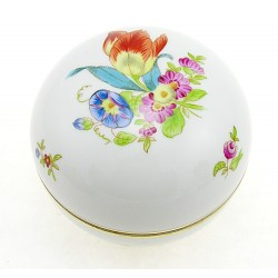 Vintage Hungarian Porcelain Herend Tulipe Bouquet Covered Dish