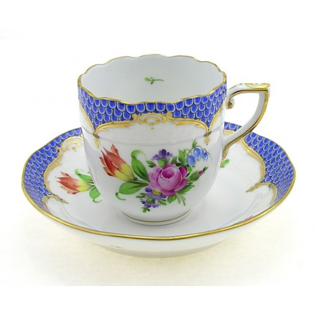 Herend Printemps Mocha Cup and Saucer