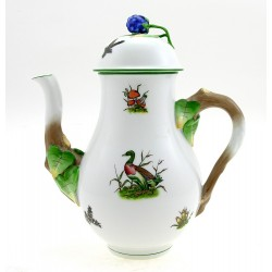 Hungarian Porcelain Herend Chasse Decor Coffee Pot